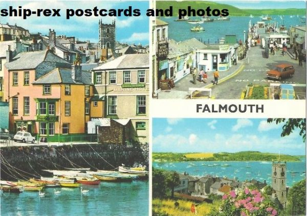 Falmouth (Cornwall) multi-view postcard